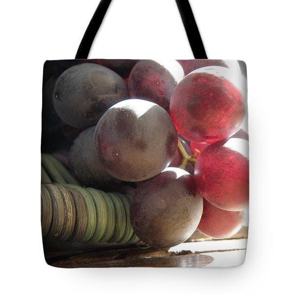 Grape Glow Tote Bag by Lainie Wrightson