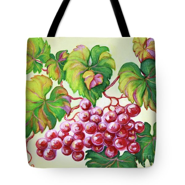 Tote Bag featuring the painting Grape Study 2 by Inese Poga