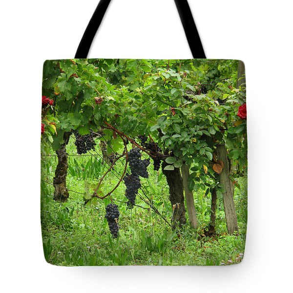 Grape Vines And Roses I Tote Bag by Greg Matchick