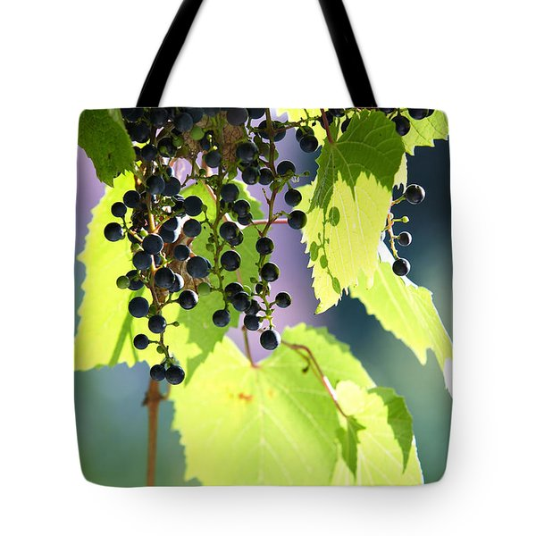 Grapes And Leaves Tote Bag by Michal Boubin