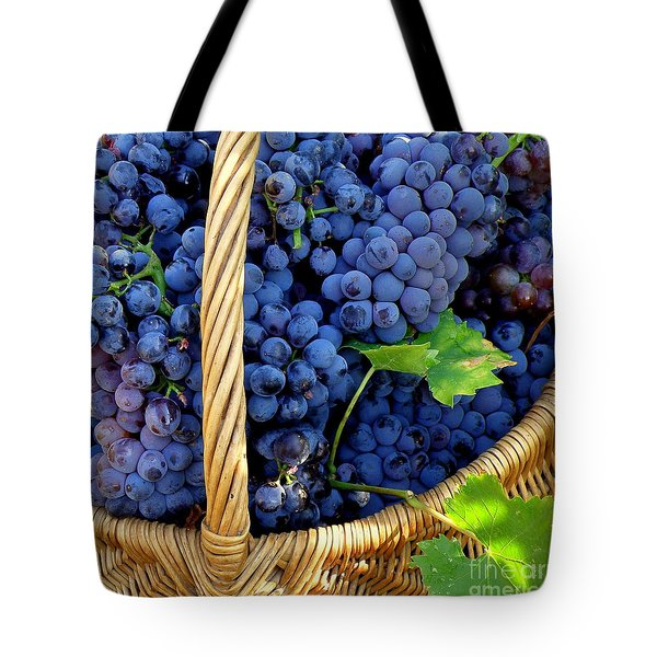 Grapes In A Basket Tote Bag by Lainie Wrightson