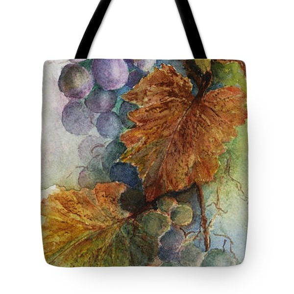 Grapes Iv Tote Bag by Judy Dodds