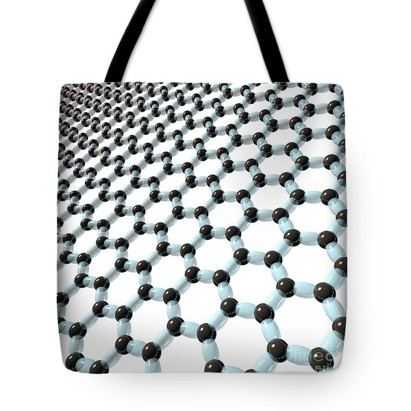 Tote Bag featuring the digital art Graphene 8 by Russell Kightley