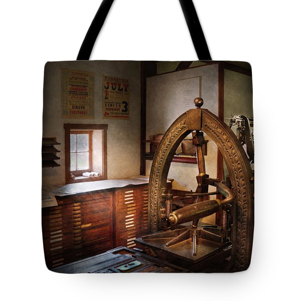 Graphic Artist - Graphic Workshop  Tote Bag by Mike Savad