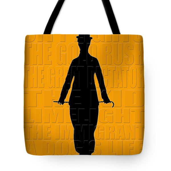 Graphic Chaplin Tote Bag by Andrew Fare