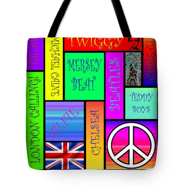 Graphic Sixties London Tote Bag by Andrew Fare
