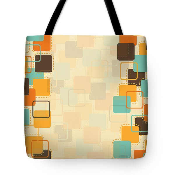 Graphic Square Pattern Tote Bag by Setsiri Silapasuwanchai