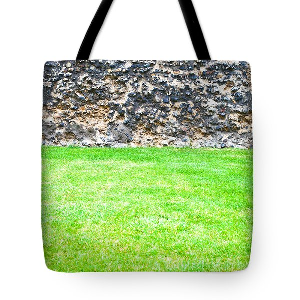Grass And Stone Wall Tote Bag by Tom Gowanlock