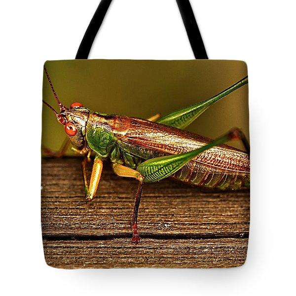 Grasshopper Tote Bag by Linda Tiepelman