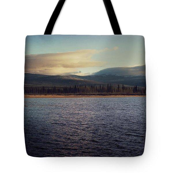 Gravel Lake Tote Bag by Priska Wettstein