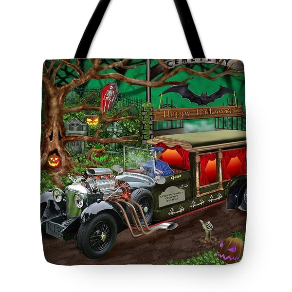 Graveyard Ghost Tours Tote Bag by Glenn Holbrook
