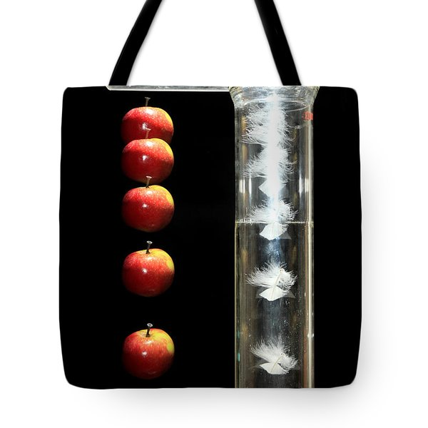 Gravity Comparison Tote Bag by Ted Kinsman