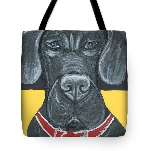Great Dane Poster Tote Bag by Ania M Milo