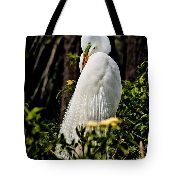Great Egret Tote Bag by Christopher Holmes