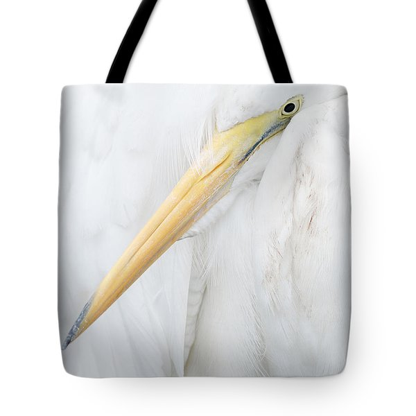 Tote Bag featuring the photograph Great Egret by Doug Herr