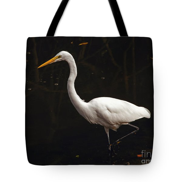Great Egret Hunting Tote Bag