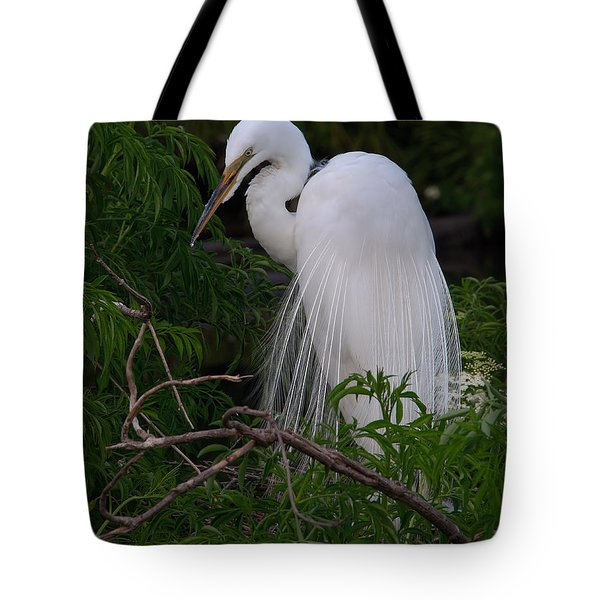 Great Egret Nesting Tote Bag
