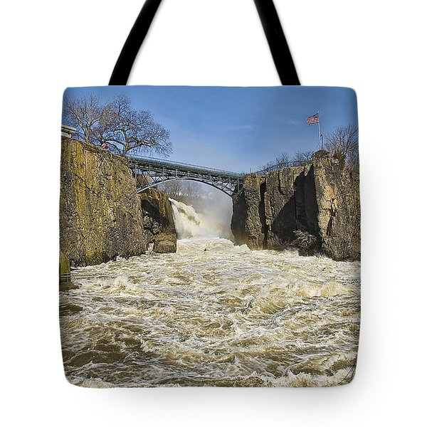 Great Falls Of Paterson    Tote Bag