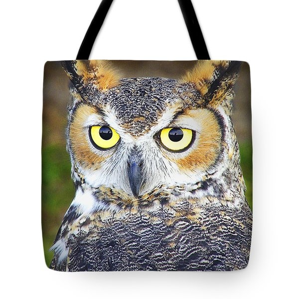 Great Horned Owl Tote Bag by Barbara Middleton