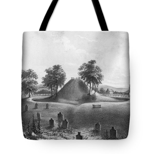 Great Mound At Marietta, 1848 Tote Bag by Photo Researchers