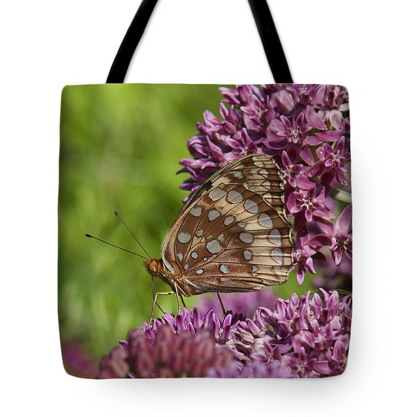 Great Spangled Fritillary Din194 Tote Bag by Gerry Gantt