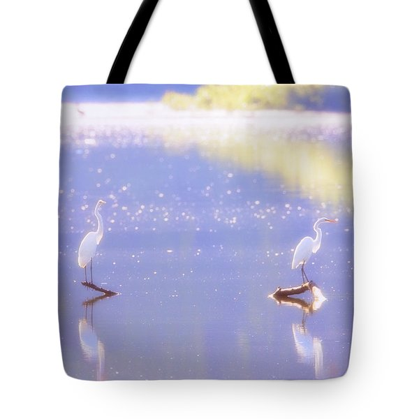 Great White Heron Tote Bag