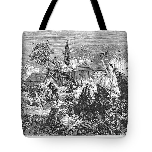 Greece: Earthquake, 1880 Tote Bag by Granger
