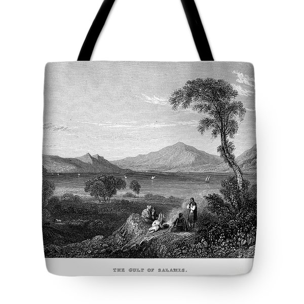 Greece: Gulf Of Salamis Tote Bag by Granger