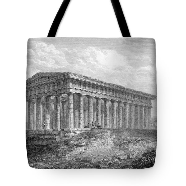 Greece: Temple Ruins Tote Bag by Granger