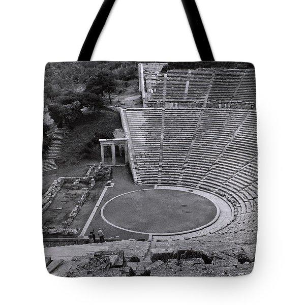 Greek Amphitheater Tote Bag