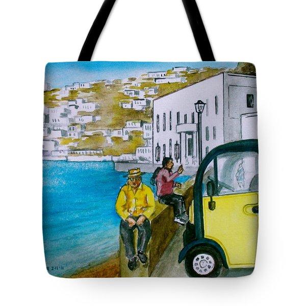 Greek Island Of Mykonis Tote Bag