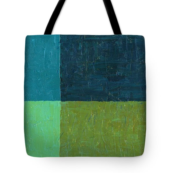 Green And Blue Tote Bag by Michelle Calkins