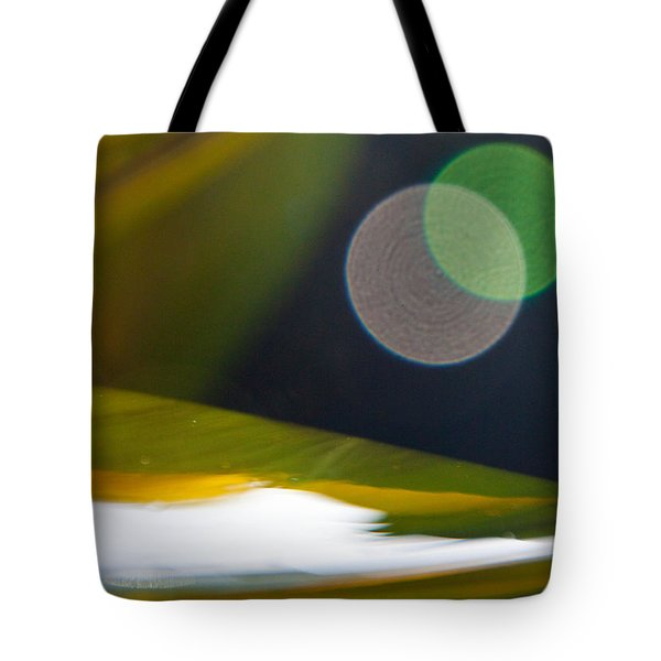 Green And Gold Abstract Tote Bag by Dana Kern