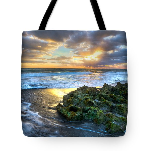 Green And Gold Tote Bag by Debra and Dave Vanderlaan