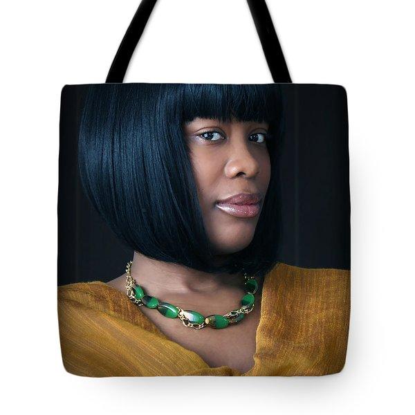 Green And Gold Tote Bag by Eena Bo