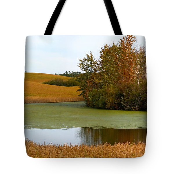 Green And Gold Tote Bag by Stuart Turnbull