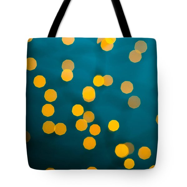 Green Background With Gold Dots  Tote Bag by Ulrich Schade