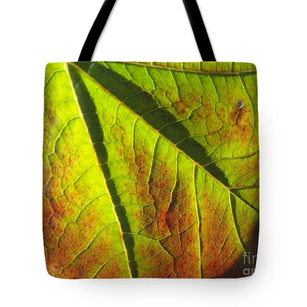 Green Days Past Tote Bag by Trish Hale