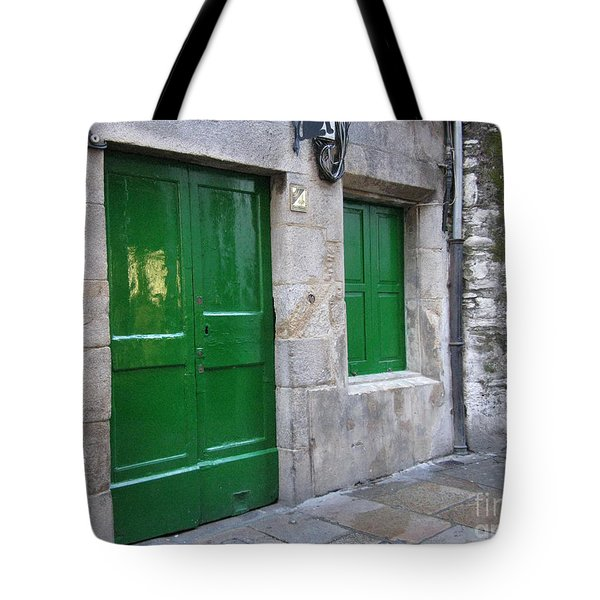 Tote Bag featuring the photograph Green Door by Arlene Carmel