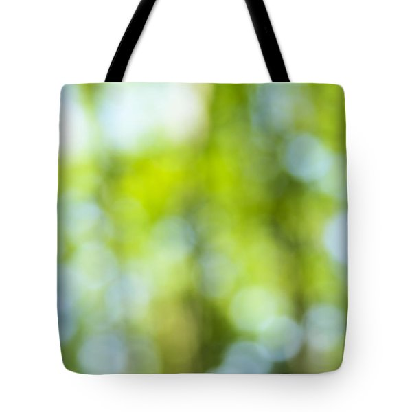 Green Forest And Blue Sky Tote Bag by Elena Elisseeva