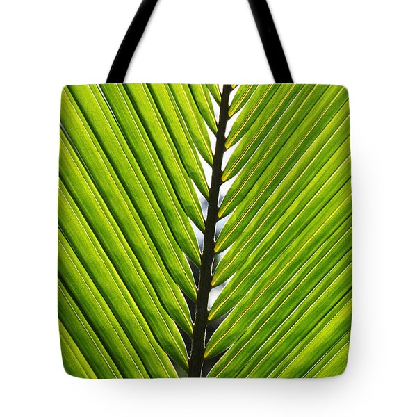 Green Fronds Tote Bag by Lauri Novak