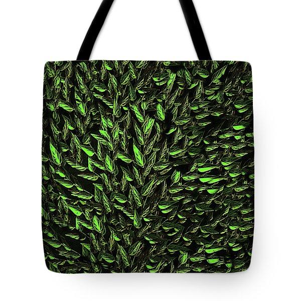 Green Leaf Tote Bag by David Dehner