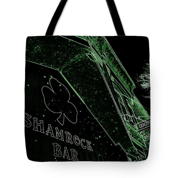 Green Night Tote Bag
