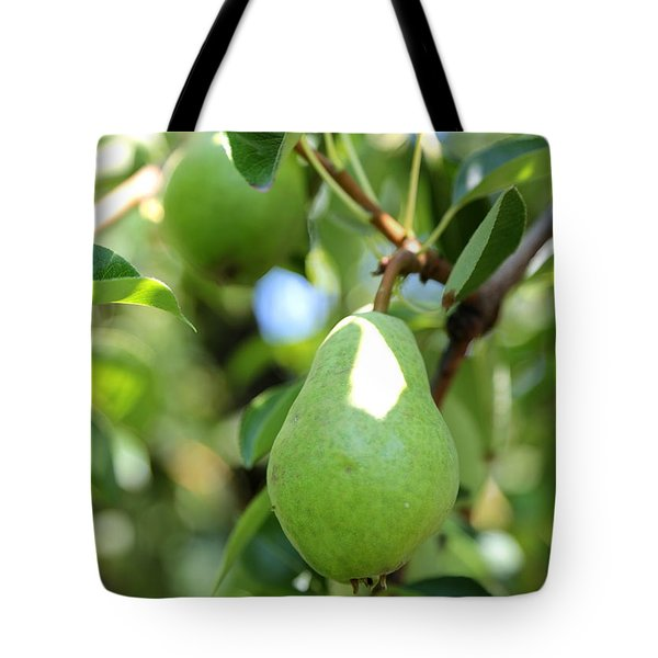 Green Pear Tote Bag by Carol Groenen