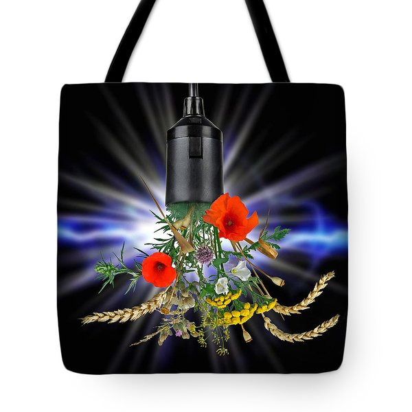 Green Power Tote Bag by Manfred Lutzius