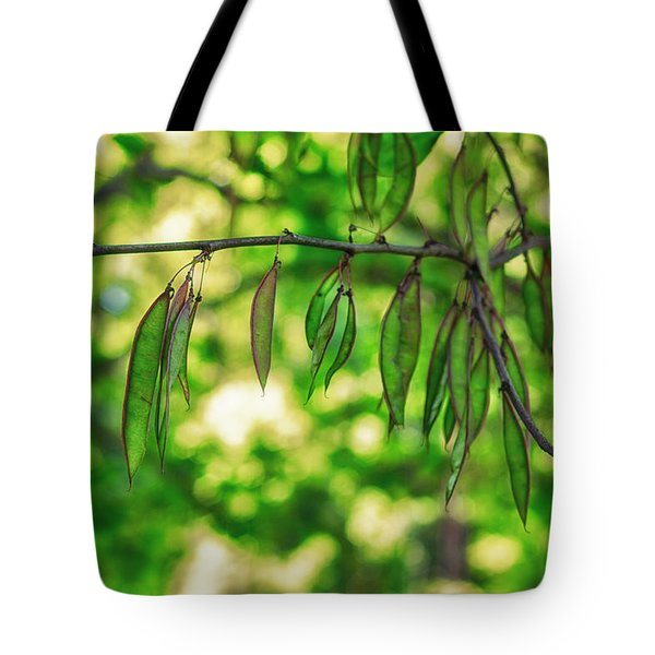 Green Redbud Seed Pods Tote Bag
