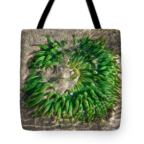 Green Sea Anemone Tote Bag