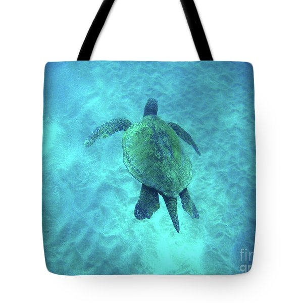 Green Sea Turtle 2 Tote Bag by Bob Christopher