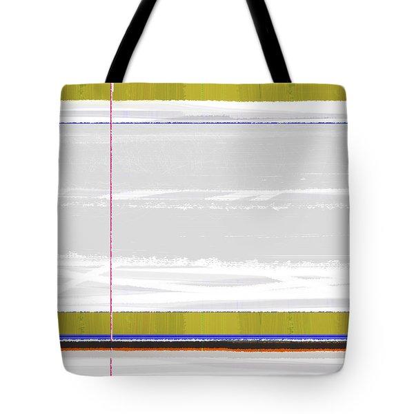 Green Strip Tote Bag