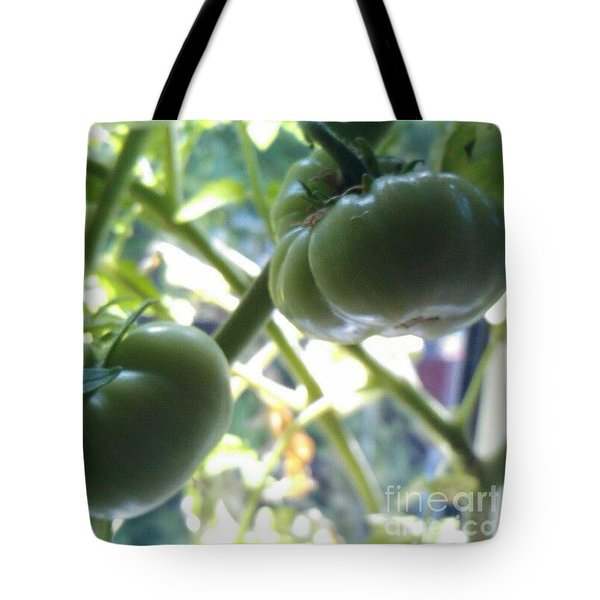 Green #tomatoes #instaprints Tote Bag by Isabella F Abbie Shores FRSA